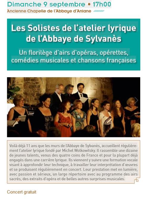 Concert du 09 septembre - Abbaye d'Aniane