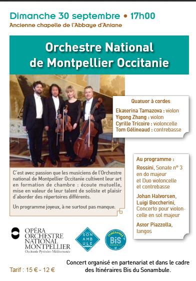 Concert du 30 septembre - Abbaye Aniane