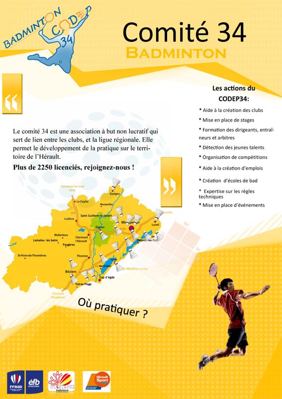 Flyer Comité Badminton aniane