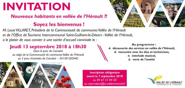 Invitation soirée nouveaux habitants 2018