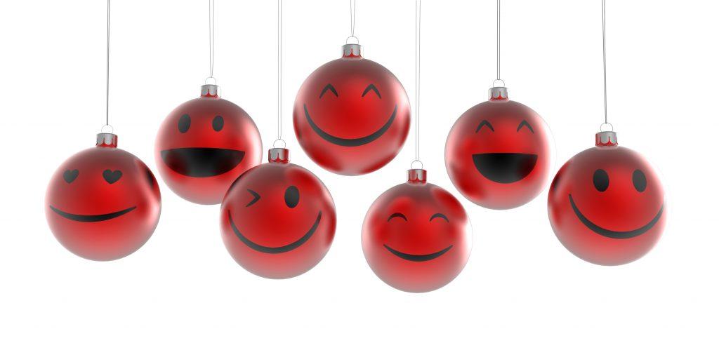 Rote Christbaumkugeln