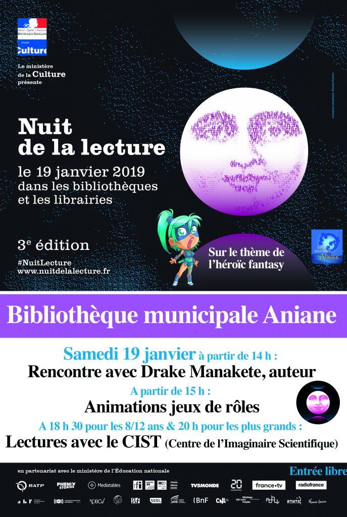 Affiche Nuit lecture 2019 40 x 60 cm - repiquable