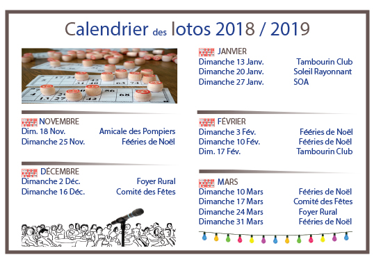 calendrier lotos maj 7 dec