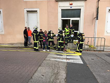 pompiers ecole aniane