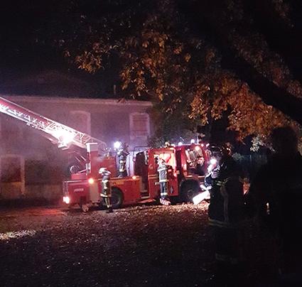 pompiers en exercice aniane