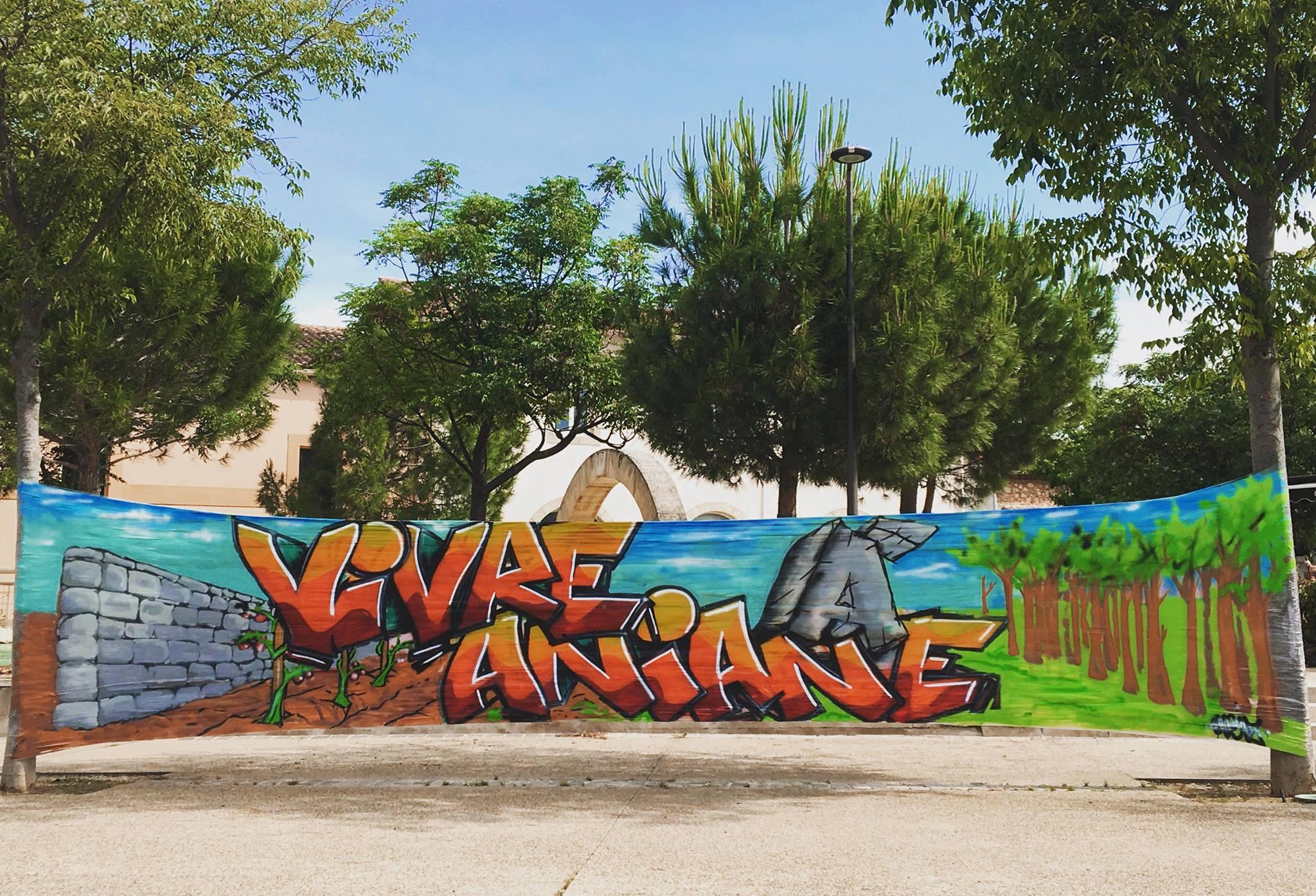 Fresque Vivre à Aniane WEIZ