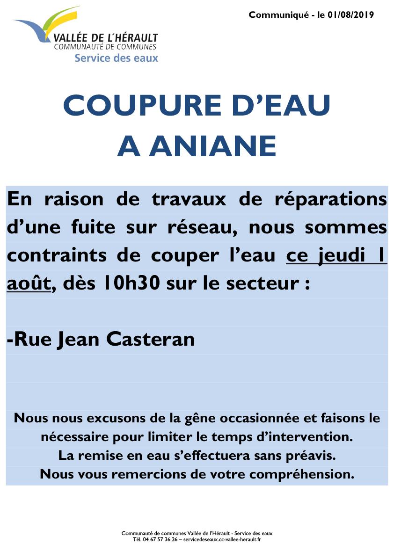 Communiqué Coupure eau 01 08 2019_Aniane