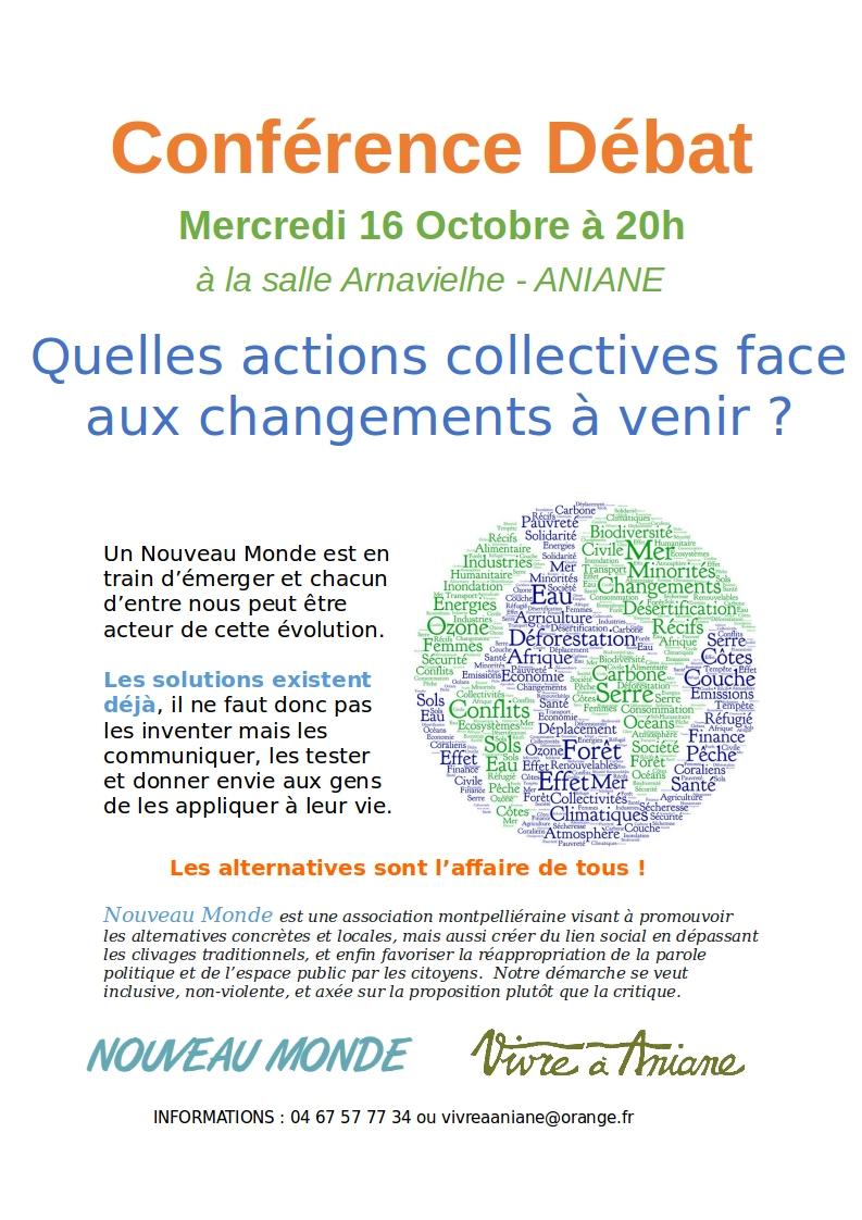Conférence Débat - alternatives & changements - 16 octobre