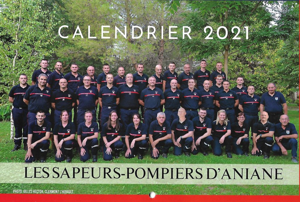 calendrier pompier 2021