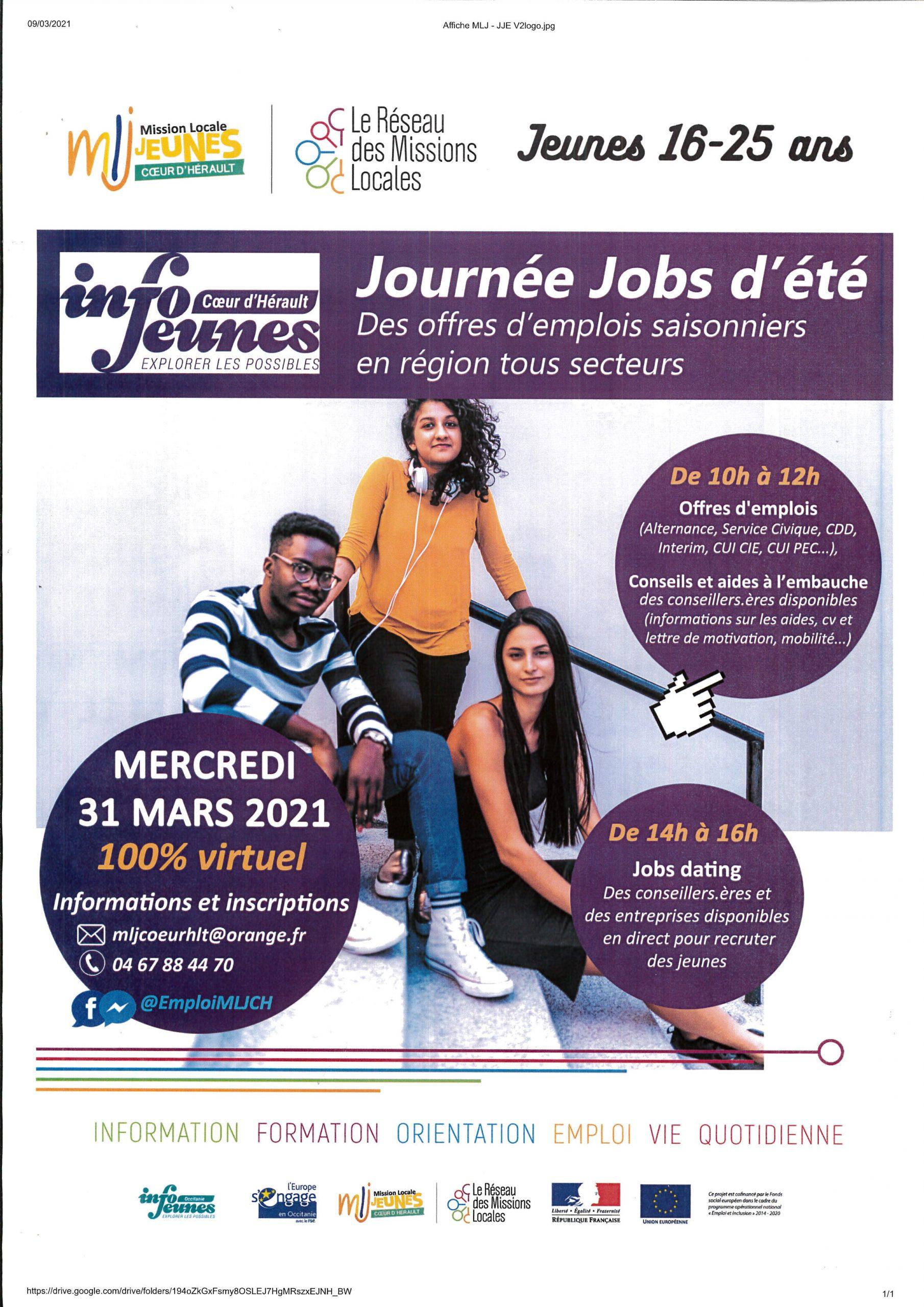 affiche jobs d'été